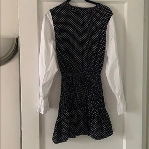 Pixie Market Long Sleeve Polka Dot Mini Dress
